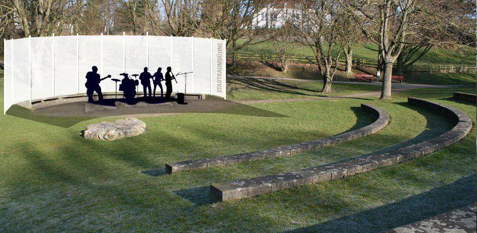 P1: Reanimation der Stadtgartenbühne / Würselen